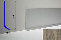 Дизайнерский алюминиевый плинтус BLW-31 60 мм, Дуб испанский