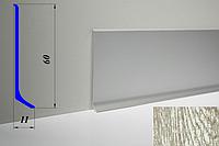 Дизайнерский алюминиевый плинтус BLW-31 60 мм, Дуб полярный