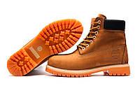 Зимние ботинки мужские Timberland 6 premium boot, песочные, натуральная кожа, р. 41