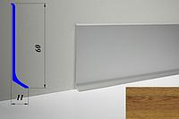 Дизайнерский алюминиевый плинтус BLW-31 60 мм, Дуб светлый