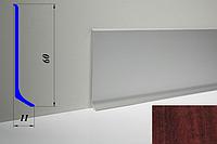 Дизайнерский алюминиевый плинтус BLW-31 60 мм, Орех бурбон