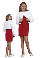 Болеро нарядное из меха для девочки  М-941  рост 98 104 110 116 122 128 134 140 146 152 и 158 т