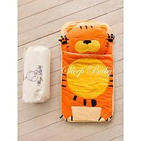 Спальный плед-конверт Тигр детям (размеры любые), фото 1