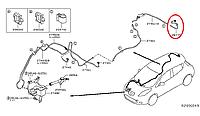 Nissan Leaf Шланг омивача заднього скла