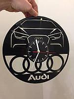 Часы из виниловой пластинки Audi
