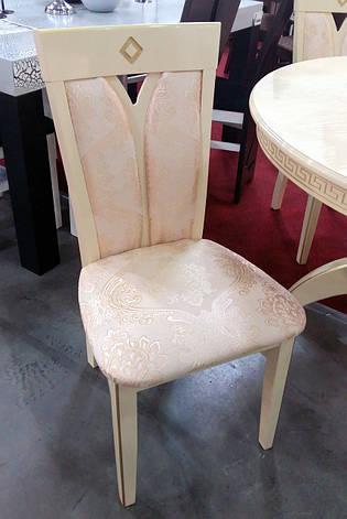 Стул обеденный Гранд Микс мебель, цвет  слоновая кость + патина, фото 2