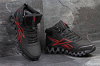 Мужские зимние кроссовки Reebok Zigwild черные с красным 3500