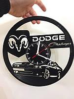 Часы из виниловой пластинки Dodge Charger