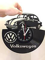 Часы из виниловой пластинки Volkswagen