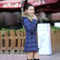 Женская куртка- пальто с красивым мехом, фото 3