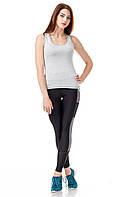 Женская трикотажная майка-боксерка. Модель М001_серая вискоза., фото 1