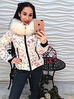 Женское стильная курточка с капюшоном