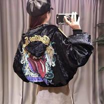 Демисезонная женская куртка с языком на спине, фото 3
