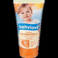 Крем от солнца защитный детский Babylove Sonnencreme Sensitive 50+, 75 мл