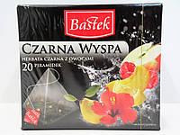 Черный чай с фруктами Bastek Черный остров 20 пирамидок