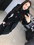 """Женское стильное качественное пальто из кашемира с капюшоном """"Алиса демисезон"""" (6 цветов), фото 4"""