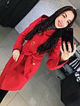 """Женское стильное качественное пальто из кашемира с капюшоном """"Алиса демисезон"""" (6 цветов), фото 5"""