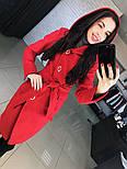 """Женское стильное качественное пальто из кашемира с капюшоном """"Алиса демисезон"""" (6 цветов), фото 6"""