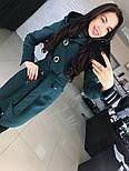 """Женское стильное качественное пальто из кашемира с капюшоном """"Алиса демисезон"""" (6 цветов), фото 8"""