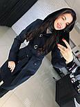 """Женское стильное качественное пальто из кашемира с капюшоном """"Алиса демисезон"""" (6 цветов), фото 10"""
