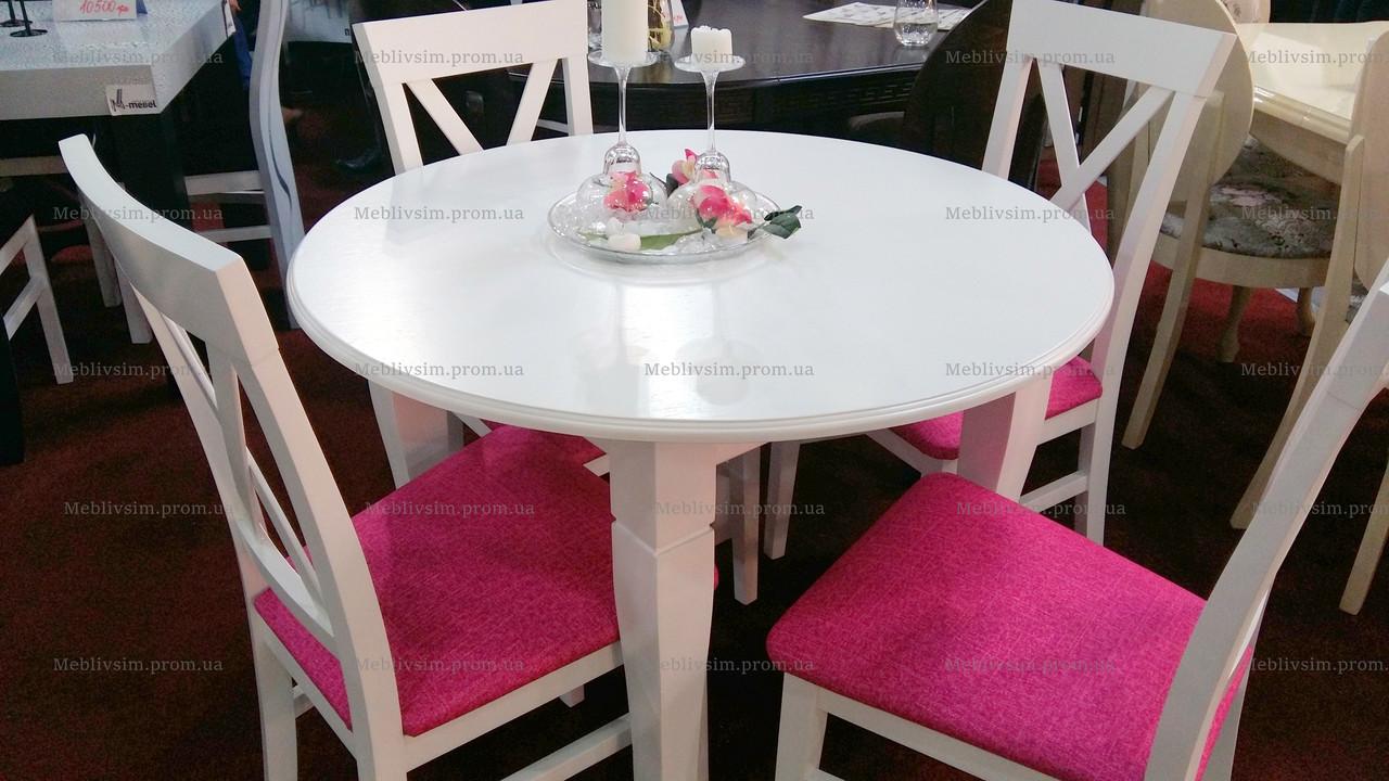 Стол круглый нераскладной Остин Микс мебель, цвет  белый