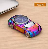 USB зажигалка-часы. Цветной перламутр. Тип 9
