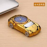 USB зажигалка-часы. Цвет золотистый. Тип 9