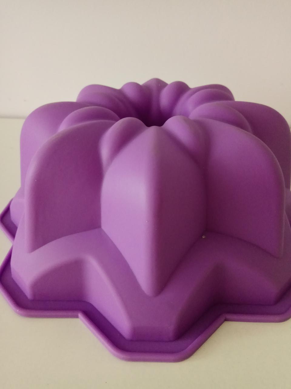 Форма силиконовая для выпечки Кекс Цветок