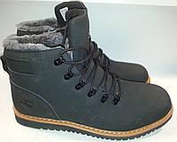 Ботинки мужские зимние эко-кожа p45 TIMBERLAND 626 черные
