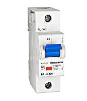 Автоматический выключатель повышенного тока BR 10кА 1P 125А х-ка C Schrack