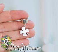 Серьги кафф Клевер цветок без прокола сережки клипс каф на ухо 4789e5cf0eb1f