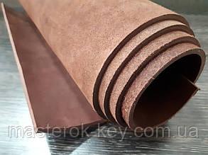 Кожа ременная Премиум т.4мм цвет коричневый