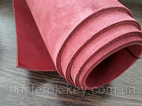 Кожа ременная Премиум т.4мм цвет розовый