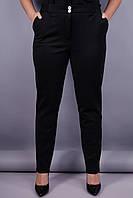 Элия утеплённые. Женские брюки супер сайз. Черный.