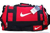 Спортивная сумка Nike. Дорожная сумка. Сумки Найк. Сумка в спортзал. Сумка в красном цвете., фото 1