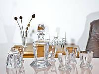 Набір Bohemia Quadro/віскі (склян 340мл-6шт,кар.850мл)-7пр