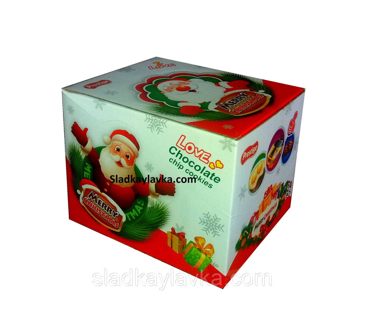 Яйцо шоколадное пластиковое Toy Новогоднее 24 шт, 15 гр (Prestige)