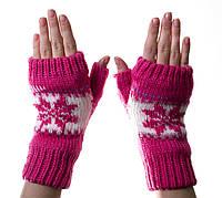 Варежки-рукавички без пальцев (митенки) PINK
