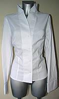 Белая женская блузка с шалевым воротом, Р34