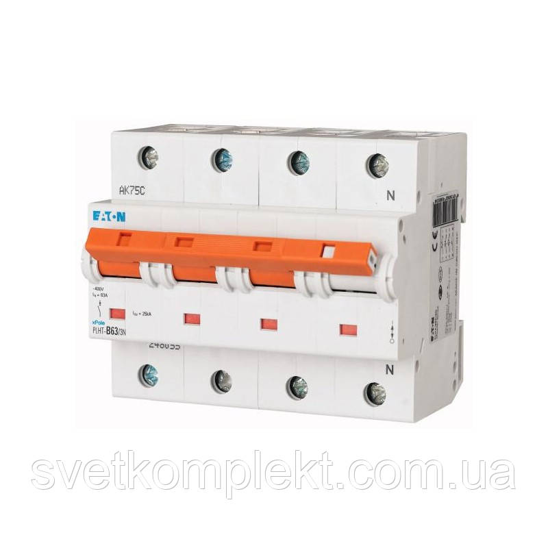 Автоматический выключатель PLHT-C63/3N (248064) Eaton 63A 3Np 20kA