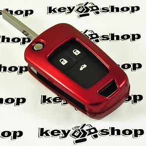 Чехол (красный, пластиковый) для выкидного ключа Opel (Опель) 3 кнопки, фото 2
