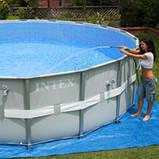 28326 Каркасный бассейн 54470 Intex 488х122 с полным комплектом +хлоргенератор, фото 3
