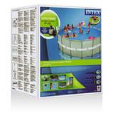 28326 Каркасный бассейн 54470 Intex 488х122 с полным комплектом +хлоргенератор, фото 6