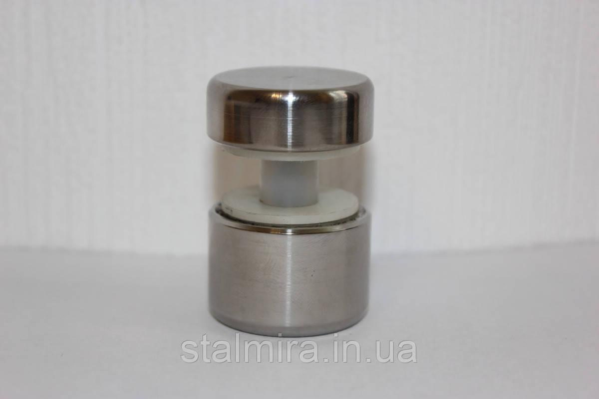 Кронштейн кріплення скла з н/ж сталі, полірований.