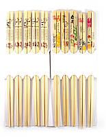 Палочки для еды бамбук (5 пар) (24х10х1,5 см)
