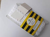 """Тасьма зигзаг ( в""""юнчик )  5-6 мм, ( 30 метрів) біла"""
