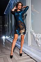 Красивое вечернее платье женское с пайетками (9 расцветок)
