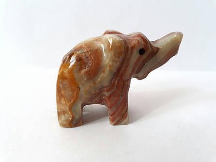 Слон из натурального оникса 4*6,5 см