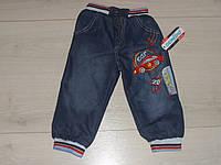 """Теплые джинсы на махре для мальчика """"Гонка"""" размеры 4,5,6,7 лет (маломерят)"""