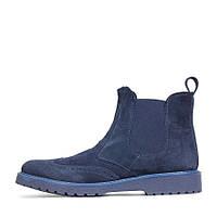 Итальянские синие демисезонные ботинки из замши TOP STAR  10073